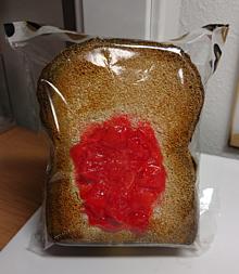 いちごジャム食パン🍓の画像(プリ画像)