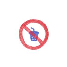 タピオカ禁止標識 プリ画像