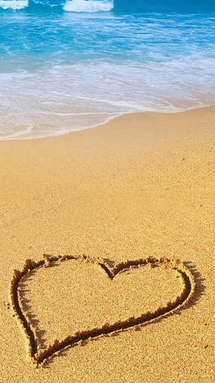 かわいい 海 ビーチ ハート おしゃれ 壁紙 55759344 完全無料画像