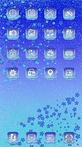 ホーム画面完成例の画像(BLUEに関連した画像)