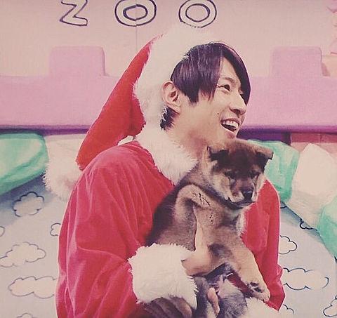 相葉サンタ+子犬の画像(プリ画像)