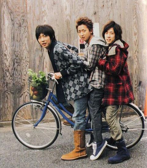 伏兵トリオ✕自転車の画像(プリ画像)