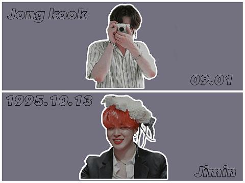 防 弾 少 年 団 🕊 __ Jong kook.Jiminの画像(プリ画像)