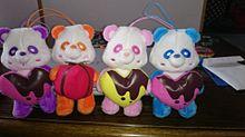 AAAえーパンダ紫、オレンジ、ピンク、青の画像(プリ画像)