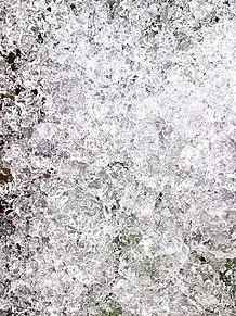 溶けかけの雪 プリ画像