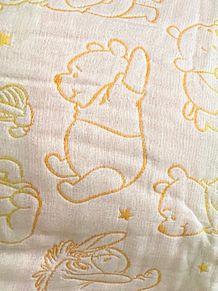 初めてもらったプーさんのガーゼタオルケットの画像(タオに関連した画像)
