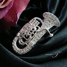 dolce様スワロフスキーピストンチューバの画像(金管楽器に関連した画像)