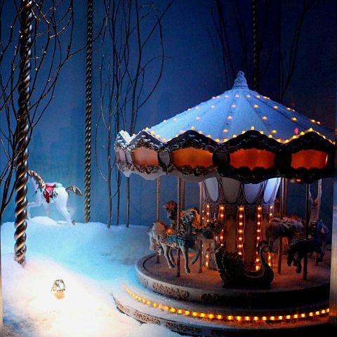 メリーゴーランド/冬/雪/夜/クリスマスの画像(プリ画像)