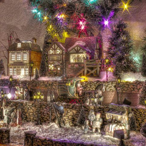 クリスマス/キレイ/幻想的/建物/キラキラ/クリスマスツリーの画像(プリ画像)