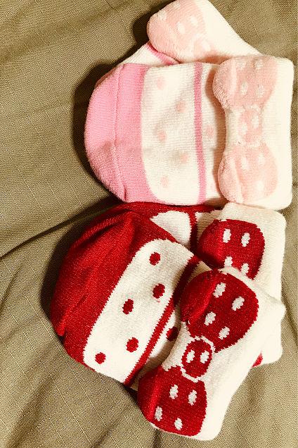 赤ちゃん マザウェイズ 靴下 リボン ドット柄 かわいいの画像 プリ画像