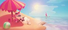 summer vacationの画像(かわいい オラフ 夏に関連した画像)