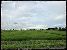 茨城県河内町 虹 プリ画像