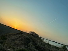 千葉県 川 土手 夕方の画像(土手に関連した画像)