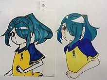 1年前と昨日描いた風丸一郎太の画像(プリ画像)