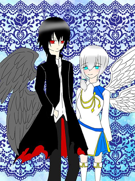 大悪魔と大天使の画像(プリ画像)
