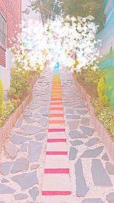 壁紙 韓国 オルチャン おしゃれ 風景 町 パステル プリ画像