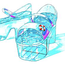 海のサンダルの画像(ビーチサンダルに関連した画像)