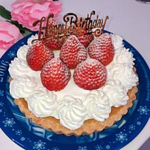 誕生日ケーキの画像(イチゴに関連した画像)