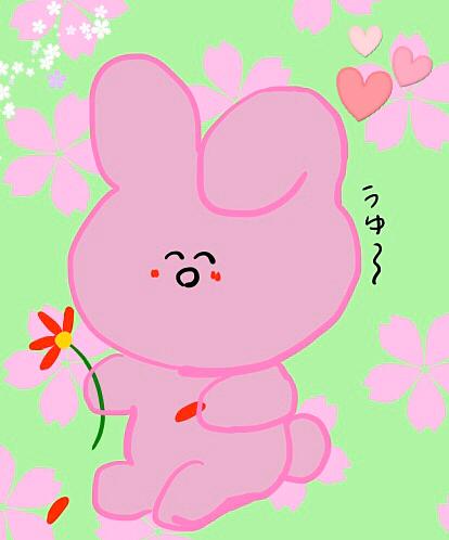 花占いうさぎさんの画像(プリ画像)