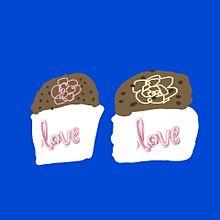 チョコレート画 カップケーキ バレンタインものの画像(カップケーキに関連した画像)
