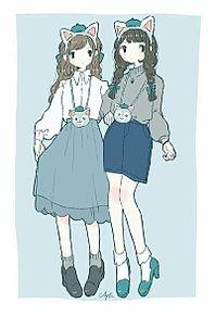 ディズニーランド(C)友達双子コーデの画像(コーデに関連した画像)