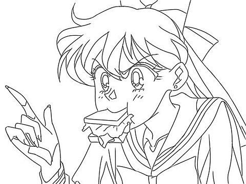 セーラームーン,愛野美奈子,女の子,線画,イラスト,おしゃれの画像(プリ画像)