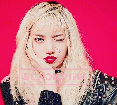 black pink LiSAの画像(プリ画像)