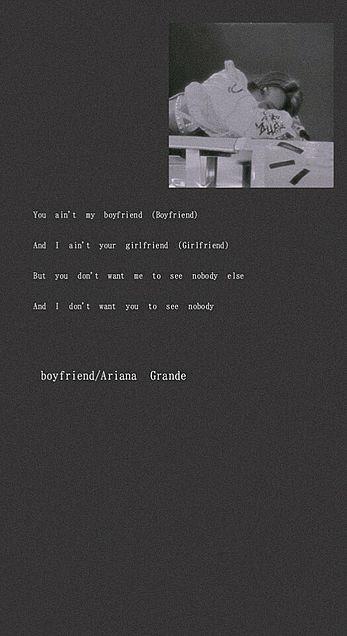 Ariana Grande/Boyfriend/歌詞の画像(プリ画像)