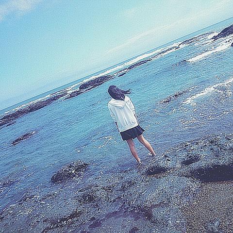 女の子/後ろ姿/海/素材の画像 プリ画像
