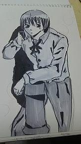 沖田総悟2モノクロの画像(プリ画像)