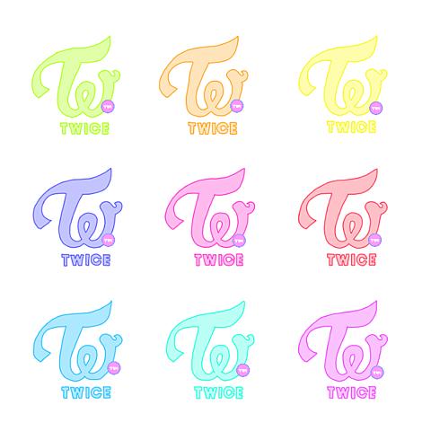 TWICEロゴかわいい韓国イラストパステルの画像(プリ画像)