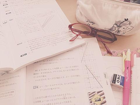 友と電話しながら数学勉強✌️の画像(プリ画像)