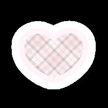 ハート♡ チェック キラキラ✨ パーツ の画像(パーツに関連した画像)