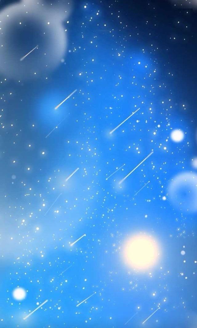 青空の中の流れ星