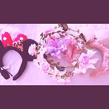 花冠と、シェリーメイ&ミニーちゃんのカチューシャ💟の画像(カチューシャに関連した画像)