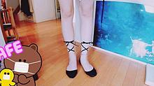 バレリーナみたいな浅履きリボン🎀靴下 プリ画像
