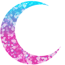 月加工素材(ピンク&水色) プリ画像