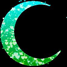月加工素材(緑&水色)の画像(緑に関連した画像)