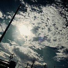 空 羊雲 プリ画像
