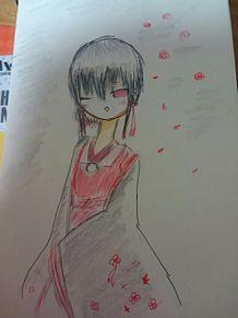 赤い花とアイラインの画像(アイラインに関連した画像)
