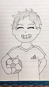 ボーイッシュなサッカー少女 プリ画像