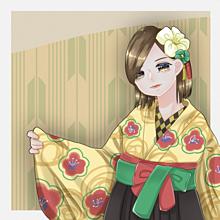 初の袴ですへへの画像(女の子イラストに関連した画像)