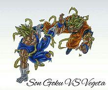 孫悟空SS2VS魔人ベジータSS2の画像(プリ画像)