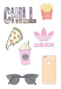 Starbucks and pizza and adidasの画像(starbucksに関連した画像)