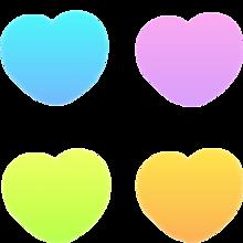 グラデーション ハートの画像(カラフルに関連した画像)