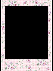 花柄 フォトフレームの画像(加工用に関連した画像)