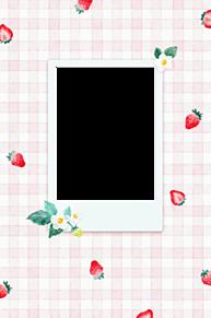 いちご柄 フレームの画像(加工用に関連した画像)