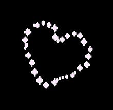 キラキラ ハートの画像(加工用に関連した画像)