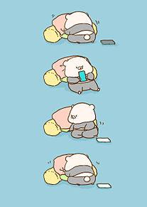 枕の位置が気になるくまの画像(気になるに関連した画像)