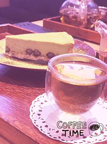 抹茶のチーズケーキの画像(和スイーツに関連した画像)